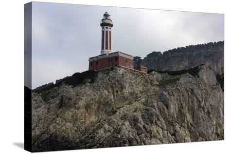 Punta Carena Lighthouse, Capri, Italy- prosiaczeq-Stretched Canvas Print