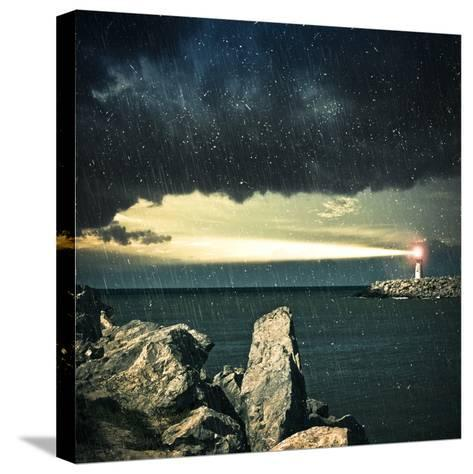 Lighthouse- adempercem-Stretched Canvas Print
