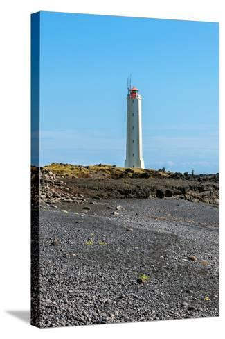 Lighthouse in West Iceland at Sunny Weather-dvoevnore-Stretched Canvas Print