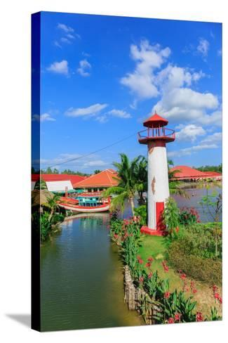 Replica Lighthouse at Hua Hin in Thailand- sarayuth3390-Stretched Canvas Print