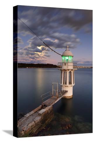Cremorne Point Lighthouse Sydney Harbour-Leah-Anne Thompson-Stretched Canvas Print