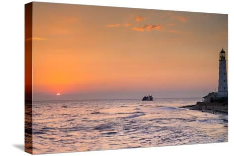 Sunrise and Lighthouse-sergejson-Stretched Canvas Print