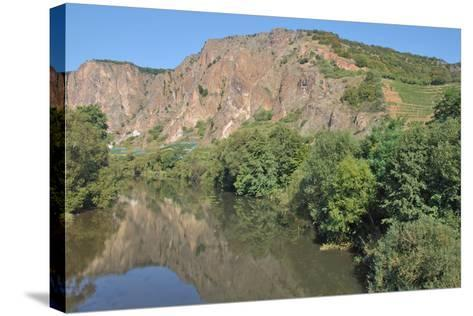 Rotenfels Rock,Nahe River,Germany-travelpeter-Stretched Canvas Print