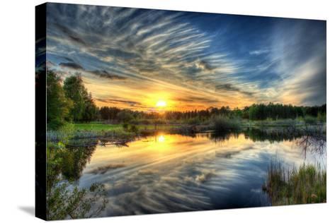 Sunset in HDR- dennisjacobsen-Stretched Canvas Print