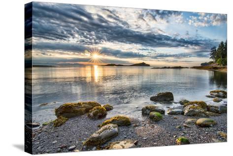 Coastal Sun Star with Rocks- james_wheeler-Stretched Canvas Print