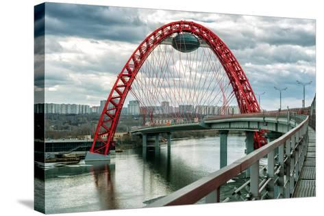 Zhivopisny Bridge over the Moskva River, Moscow-scaliger-Stretched Canvas Print