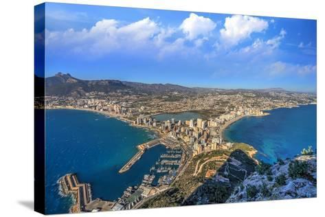 Calpe Town Coastline and Marina- Lledó-Stretched Canvas Print