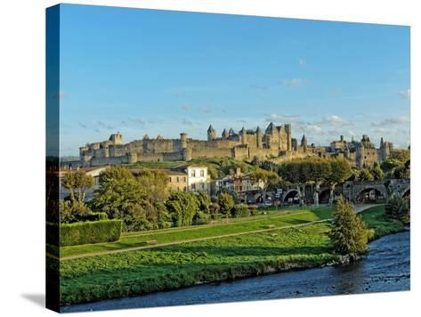 HDR of Carcassonne Fortified Town , France- frederic49-Stretched Canvas Print