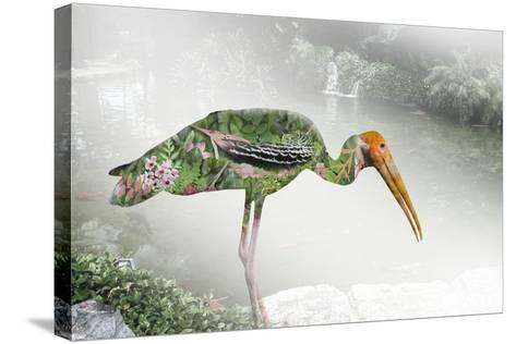 Double Exposure Green Nature Concept- pkproject-Stretched Canvas Print