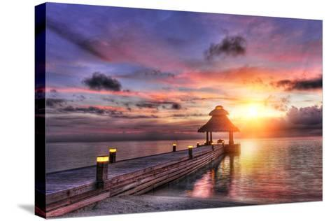 Sunset in the Paradise-Fyle-Stretched Canvas Print