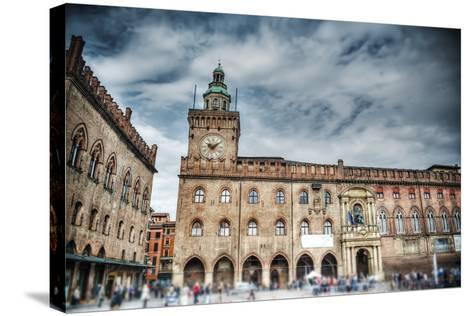 Palazzo D'accursio in Piazza Maggiore, Bologna-Gabriele Maltinti-Stretched Canvas Print