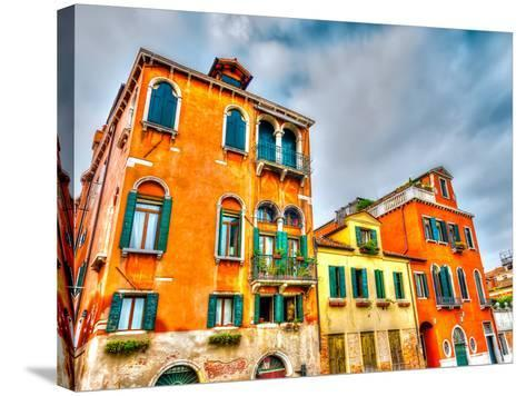 Beautiful Buildings at Venice Italy. HDR Processed-imagIN photography-Stretched Canvas Print