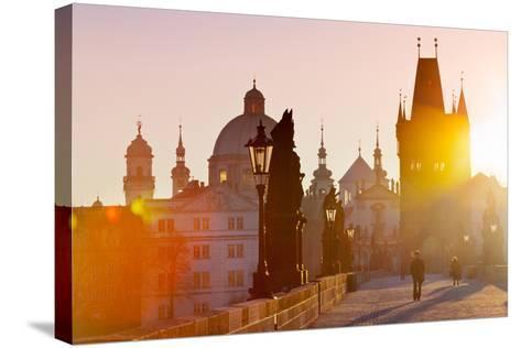 Charles Bridge, Old Town, Prague (Unesco), Czech Republic-kaprikfoto-Stretched Canvas Print