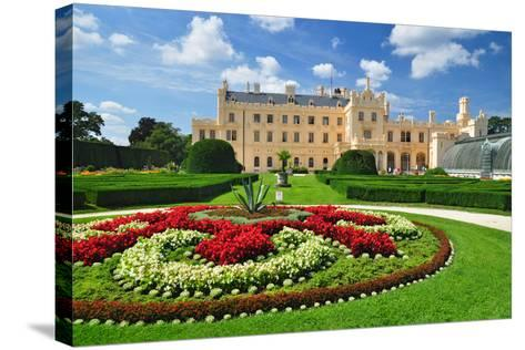 Lednice Chateau, Unesco Heritage- meryll-Stretched Canvas Print