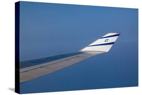 Israeli Airplane Wing-EvanTravels-Stretched Canvas Print