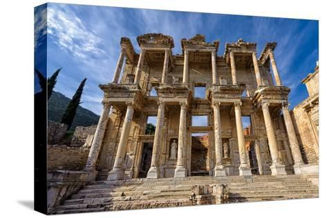 Library of Celsus-salparadis-Stretched Canvas Print