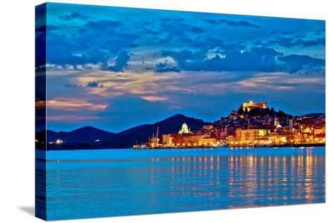 Sibenik Evening Colorful Waterfront View-xbrchx-Stretched Canvas Print