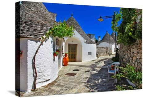 Unique Trulli Houses with Conical Roofs in Alberobello, Italy, P-Freesurf-Stretched Canvas Print