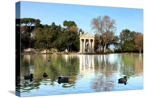 Villa Borghese Lake in Rome-stefano pellicciari-Stretched Canvas Print
