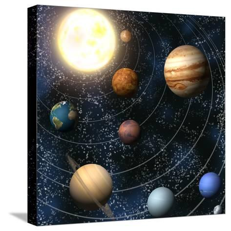 Solar System-Christos Georghiou-Stretched Canvas Print