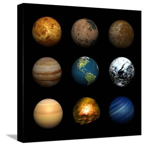 Planets-Stephen Coburn-Stretched Canvas Print
