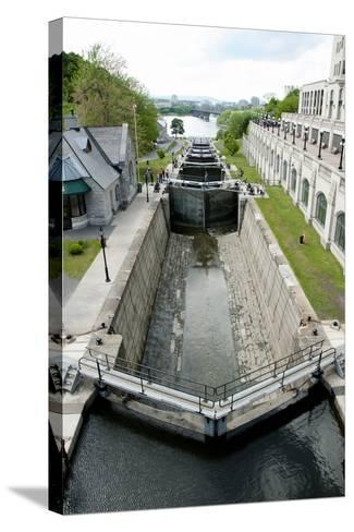 Rideau Canal Locks - Ottawa- adwo-Stretched Canvas Print