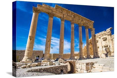 Roman Ruins of Palmyra, Syria.-siempreverde22-Stretched Canvas Print