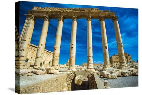 Great Ruins of Palmyra, Syria. UNESCO World Heritage-siempreverde22-Stretched Canvas Print