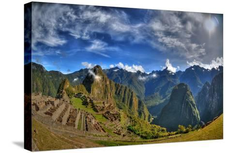 Sun Rise over the Incan Lost City of Machu Picchu - HDR Photo- aharond-Stretched Canvas Print