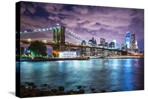 New York City with Dramatic Cloud Cover.-SeanPavonePhoto-Stretched Canvas Print