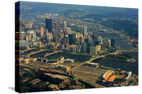 Pittsburgh Pennsylvania Aerial View-shutterrudder-Stretched Canvas Print