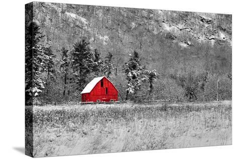 Red Barn-dbriyul-Stretched Canvas Print