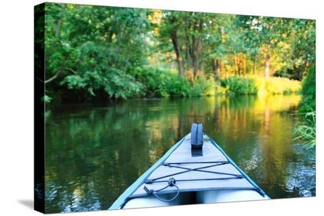 Kayak on a Small River-maksheb-Stretched Canvas Print