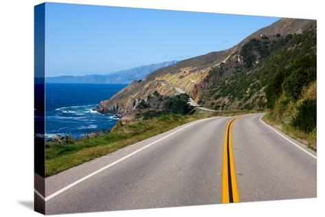 Highway through California Coast-Andy777-Stretched Canvas Print