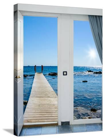 Sea View from the Pier-Dmitry Bruskov-Stretched Canvas Print