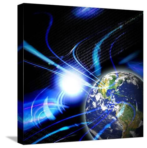 Global Communication-arenacreative-Stretched Canvas Print