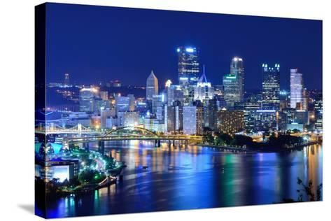 Skyscrapers in Downtown Pittsburgh, Pennsylvania, Usa.-SeanPavonePhoto-Stretched Canvas Print