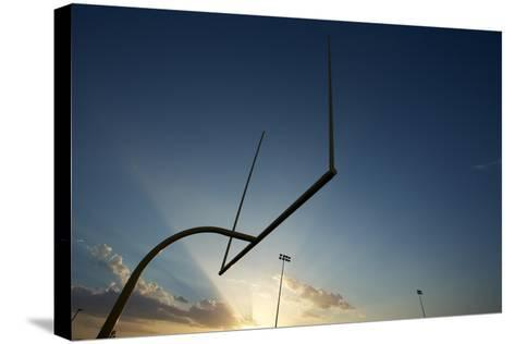 American Football Goal Posts or Uprights at Sunset-33ft-Stretched Canvas Print