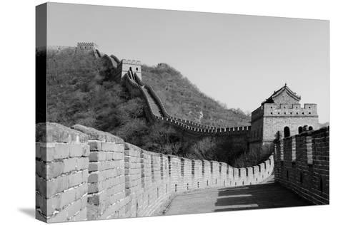 Great Wall in Black and White in Beijing, China-Songquan Deng-Stretched Canvas Print