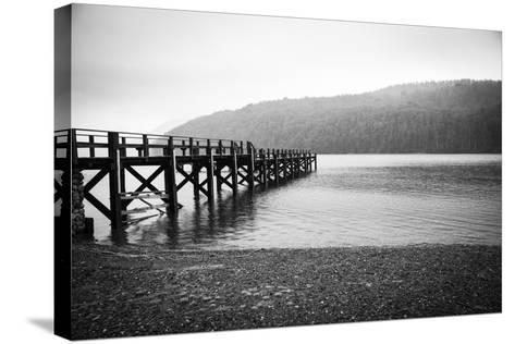 Pier in A Foggy Lake-paiphoto-Stretched Canvas Print