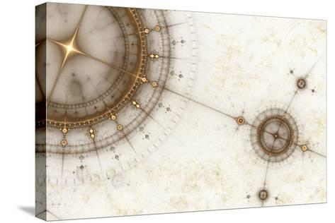 Ancient Nautical Chart, Grunge-Artida-Stretched Canvas Print