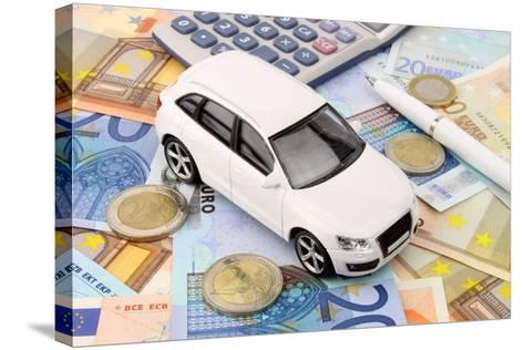 Euro Car Finance-spectrumblue-Stretched Canvas Print