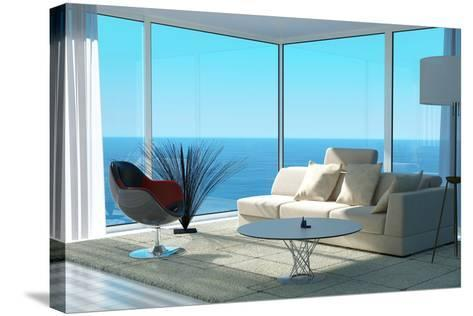 A Sunny Living Room Interior-PlusONE-Stretched Canvas Print