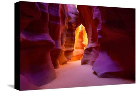 Arizona Antelope Canyon on Navajo Land Near Page USA-holbox-Stretched Canvas Print