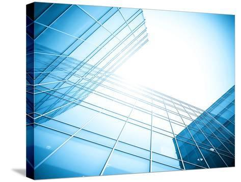 Glass Building Perspective View-Vladitto-Stretched Canvas Print