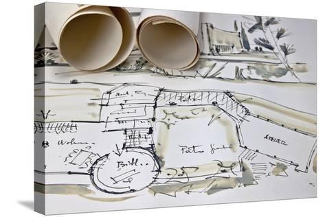 The Blueprint of a House-Giovanna - ricordi fotografici-Stretched Canvas Print