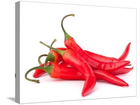 Hot Red Chili or Chilli Pepper-Natika-Stretched Canvas Print