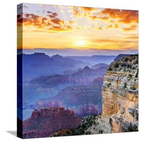 Grand Canyon-vent du sud-Stretched Canvas Print