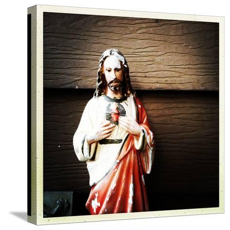 Weathered Statue of Jesus-pablo guzman-Stretched Canvas Print