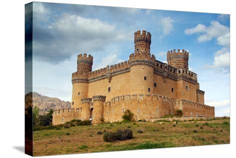 Madrid,  SPAIN - 20 Juny, 2009, Manzanares El Real Castle (Spain) Build in the 15Th. Century-TTstudio-Stretched Canvas Print